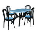 Table With Plastic Chairs