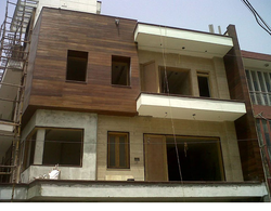 Brown Exterior Wooden Facade, Dimension: 23 x 32 x 13 cm