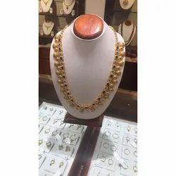22k Gold Haram Necklace, Box, 35 Gm