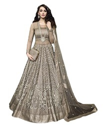 89a412bf32 Sage Green Color Engagement Wear Heavy Embroidery Anarkali Suits, Rs ...
