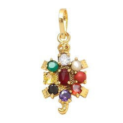 SSGJ Navartna Kachua Pendant With Golden Polish Shree Shyam Gems And Jewellery
