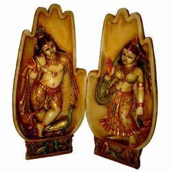 Resin Carving Radha Krishna Hand Statues