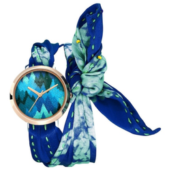 Titan Raga Twirl Blue Dial Analog Watch
