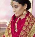 Designer Wedding Wear Embroidery Georgette Sarees