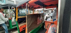 Stiching And Product Sale Auto Rickshaw Advertising Covers, Mode Of Advertising: Outdoor, Size: 45x36