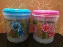 Round Kitchen Foil Flower Printed Container, Packaging Type: Box, Size: 5lkg 7kg 10kg