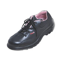 PU Sole Ladies Leather Safety Shoes
