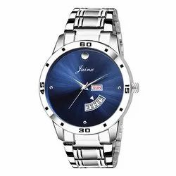 Jainx Stainless Steel Blue Day and Date Analogue Mens Watch JM311