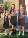 Shyamjee Poly Cotton Summer School Uniform, Size: Small, Medium And Large