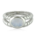 Designer Finger Moonstone Silver 925 Ring
