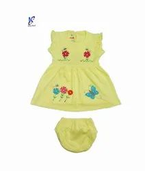 SUMMER BABY FROCK WITH BLOOMER