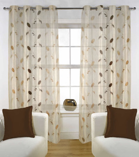 Sheer Embroidery Curtain Door Curtains