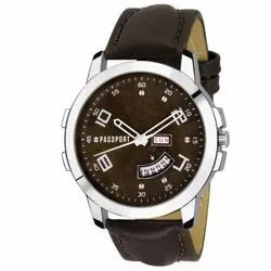 Dark Brown Gents Leather Watch