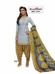 Blacktiger Semi cotton Designer Salwar Kameez