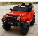 Red And Black Three Motor Battery Operated Jeep