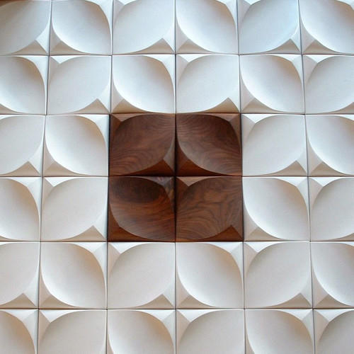 White And Brown Porcelain Wall Tile