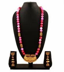 SPJ032 Gemstones Antique Finish Golden Temple Pendant