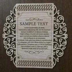 Invite Designer Wooden Wedding Card