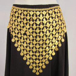 Gothic Gold Plate Coin Dance Festival Hip Chain Belt