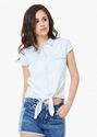 Lee Cooper Solid Knotted Shirt