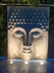 Handmade Mint Sandstone Buddha Face, For Decoration, Size: L-72x Height- 96