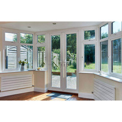 Residential UPVC French Window, Glass Thickness: 5-10 Mm