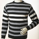 Round Neck Stripes Sweaters
