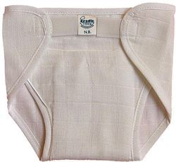 Off White Cotton Muslin Diaper With Velcro
