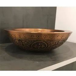Capstona Floral Brass Wash Basin