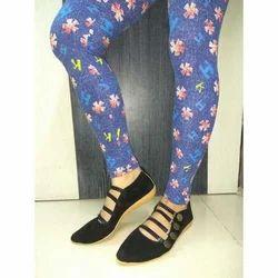 Cotton Lycra Skin Fit Ankle Length Ladies Leggings, Size: Free Size