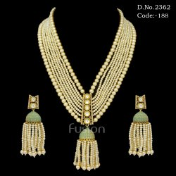 Beaded Mala Kundan Necklace Set