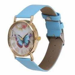 Blue Butterfly Belt Watch
