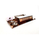 Metal Kraft Rose Gold Rectangular Snack Service Set