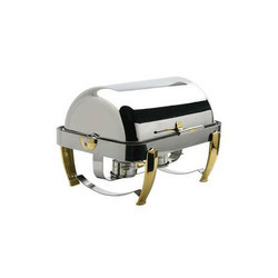 Stainless Steel Chafing Dish Rectangular With Roll Top LID