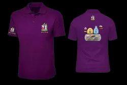 Unisex Cotton Purple Promotional T Shirt