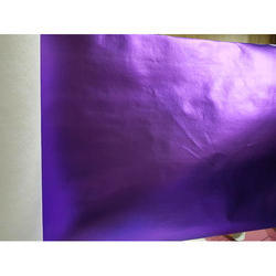 Purple Matte Colour Metallic Laminated Woven Fabric