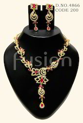 AD Ruby Necklace Set