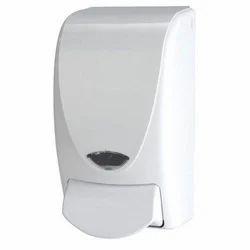 White Manual Plastic Soap Dispenser, Capacity: 5 L, Dimension/Size: 12x12x24 cm