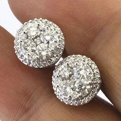 18k Gold Diamond Earrings Studs