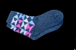VP Oswal Ladies Blue Woolen Socks