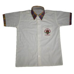 Summer Cotton School Uniform Shirts, Size: S-XXL, Packaging Type: Packet