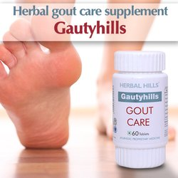 Herbal Gout Care Supplement - Gautyhills 60 Tablets