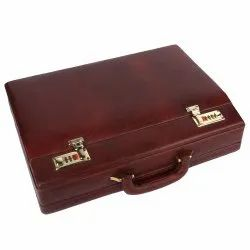 Hammonds Flycatcher Genuine Bombay Brown Leather Briefcase