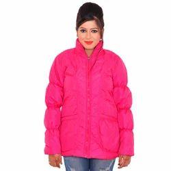 Full Sleeve Ladies Pink Jacket