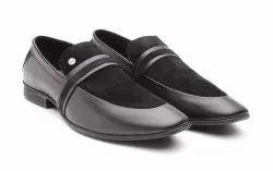 Carlton Overseas Black Men Formal Leather Slip-Ons Shoes, Size: 6-11, Packaging Type: Shoe Box