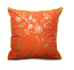 Double Sided Orange Gold Roses Cushion Cover