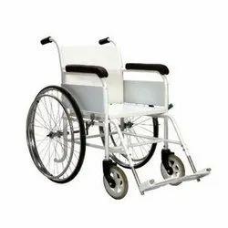 Manual White RIGID frame Wheel Chair