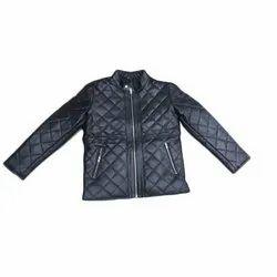 Black Leather Zipper Jackets, Size: S - XXL