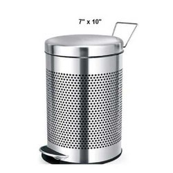 7 X 10 Inch Stainless Steel Pedal Bin