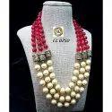 CL code Semi Precious Quartz Shell Pearl Fashion Jewellery designer Necklace